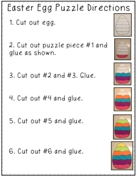 Easter Egg Puzzle Craft