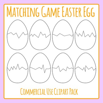 Easter Egg Puzzle Templates for Matching Games Commercial Use Clip Art Pack