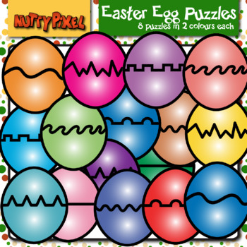 Easter Egg Puzzles - Clip Art