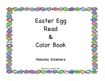 Easter Egg Read and Color Book