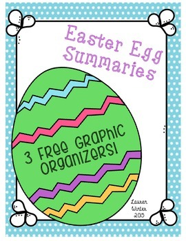 Easter Egg Reading Summary Graphic Organizers