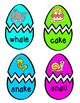 Easter Egg Reading & Writing Long Vowel Pattern Words Matching Activity