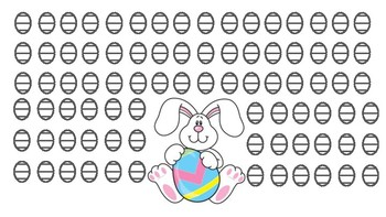 Easter Egg Reinforcer Activity - NO PREP