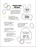 Easter Egg Rhyme Fill in the Blanks