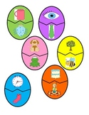 Distance Learning Easter Egg Rhyming Picture Match for Parents to play at home