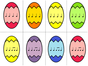 Easter Egg Rhythms & Drum Circle Activity (ta, ti-ti, and rest)