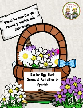 "Easter Egg Scavenger Hunt ""Pascuas"" Spanish Activities"