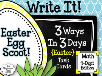 Easter Egg Scoot! ~ Math Task Cards {4-Digit Number Representations}