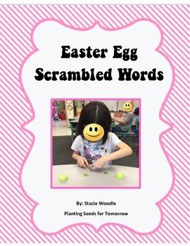 Easter Egg Scrambled Words