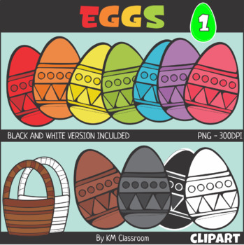 Easter Egg Set 1 Clip Art