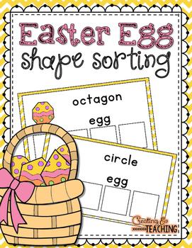 Easter Egg Shape Sorting