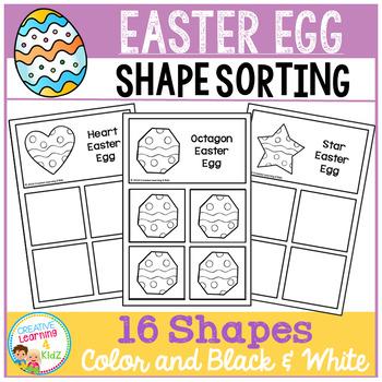 Shape Sorting Mats: Easter Egg