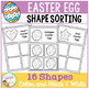 Shape Sorting Mats: Easter Egg