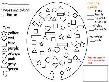 Easter Egg Shape and Color search