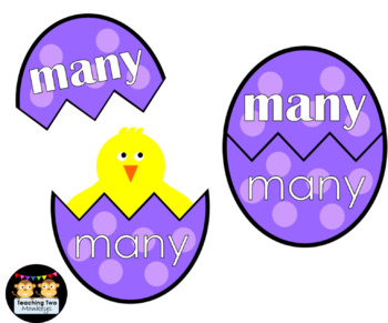 Sight Word Easter Egg Activities (Fry's First 100 Words)