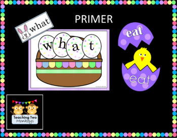 Sight Word Easter Egg Activities (DULCH Pre-primer and Primer)
