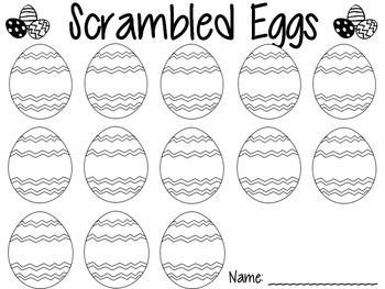 Easter Egg Sight Word Center Recording Sheet