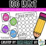Easter Egg Sight Word Hunt (editable)