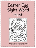 Easter Egg Sight Word Hunt for Kindergarten
