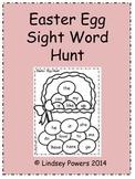 Easter Egg Sight Word Hunt for Kindergarten