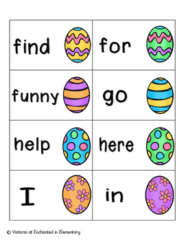 Easter Egg Sight Words! Complete Set of 220 Sight Words