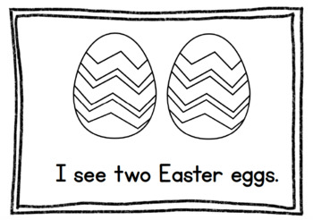 Easter Egg Sight Words & Counting to Ten Books (I see & I have)