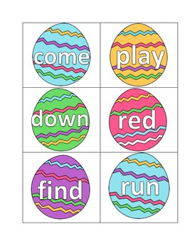 Easter Egg Sight Words (Dolch Pre-primer List)