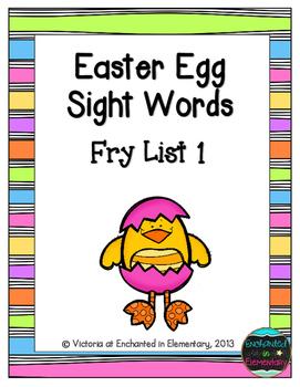 Easter Egg Sight Words! Fry List 1