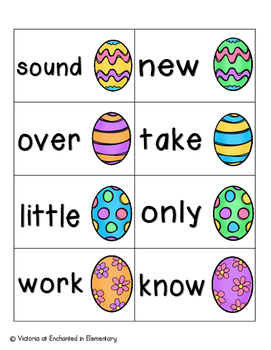 Easter Egg Sight Words! Fry List 2