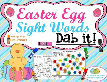 Easter Egg Sight Words: Pre-Primer Dolch Sight Words (Dab it)