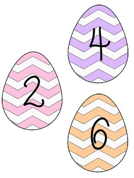 Easter Egg Skip Counting by 2s