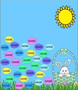 Easter Egg SmartBoard Attendance