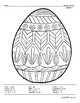 Easter Egg Solving Quadratic Equations - Roots
