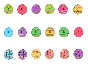 Easter Egg Sort - Multiplying Whole and Mixed Numbers