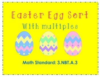 Easter Egg Sort With Multiples