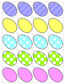 Easter Egg Sorting and Graphing by Size for Spring Math Center