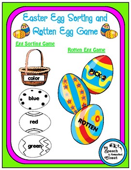 Easter Egg Speech Therapy Games