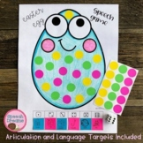 Easter Speech Therapy Sticker Dauber Dice Game Craft Egg