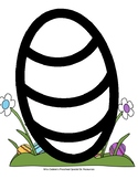 Easter Egg (Striped) Coloring Page