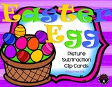 Easter Egg Subtraction Kindergarten Picture Subtraction Clip Cards