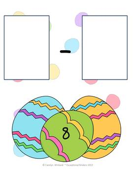 Easter Egg Subtraction Mats
