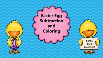 Easter Egg Subtraction and Coloring