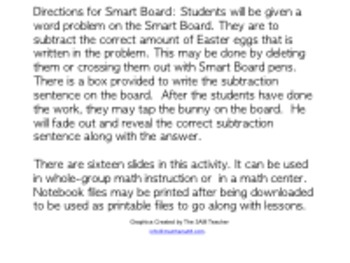 Easter Egg Subtraction for the Smart Board
