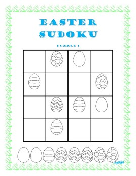 Easter Egg Sudoku for Math Centers or Early Finishers
