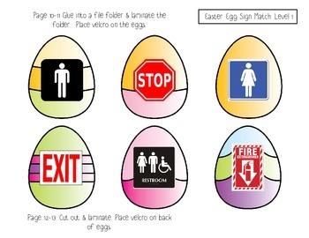 Easter Egg Survival Sign FREEBIE (File Folder Activity)