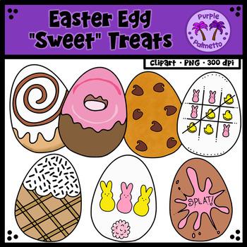"Easter Egg ""Sweet"" Treats Clipart"