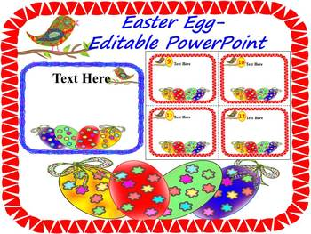 Easter Activities - Spring Activities - Task Cards - Editable PowerPoin