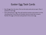 Easter Egg Task cards