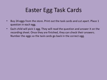 Easter Egg Task cards