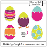 Easter Egg Template Set